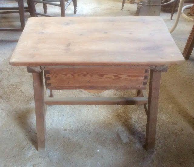 Mesa de cocina antigua 72 x 47 cm | Mesas cocina antiguas ...