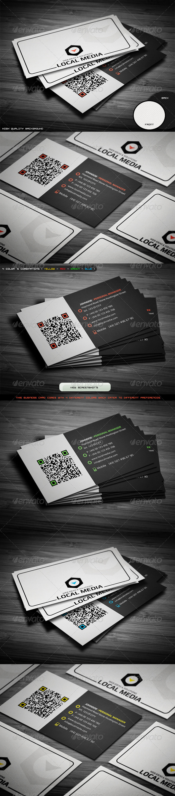Professional Business Card http://graphicriver.net/item/professional ...