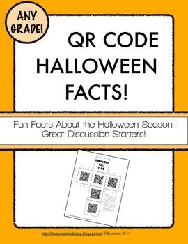 Halloween Facts QR Code Cube! Fun discussion starter!