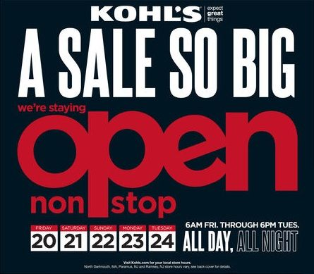 Is Kohls Open On Christmas Day.Pin On Kohl S