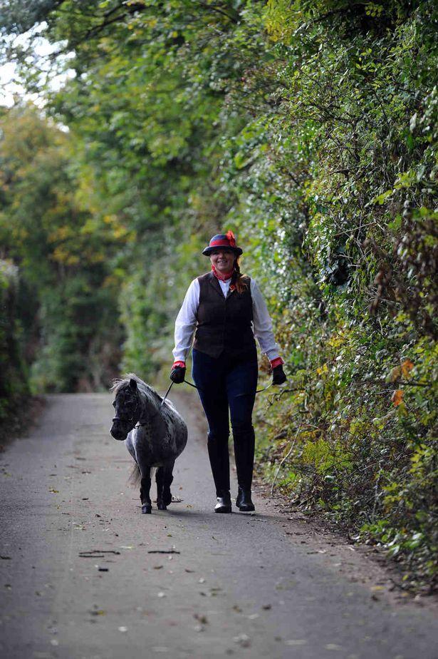 Simba walking with Amanda
