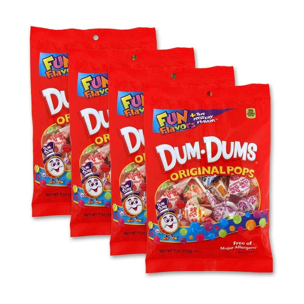 Dum Dums Original Pops Peg Bags