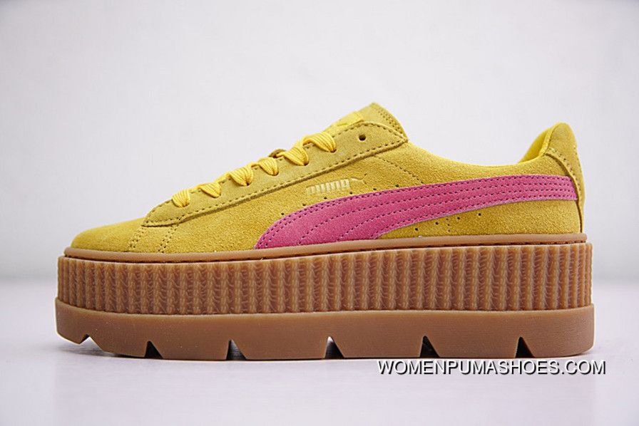 get cheap b8c86 65d69 Rihanna X Puma Fenty Suede Cleated Creeper 366267-03 YELLOW ...