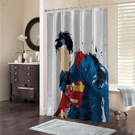 Custom Design Elegant Superman Superhero Splating Paint Shower
