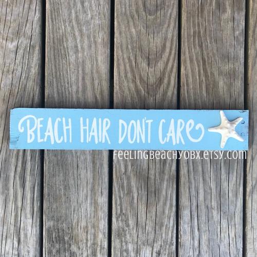 Photo of Beach House Sign Beach Hair Don't Care Sign Coastal | Etsy