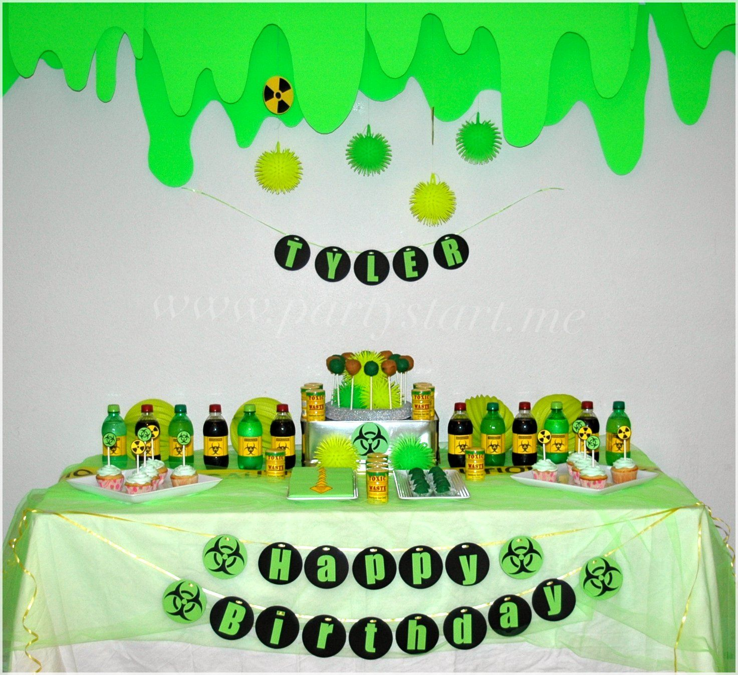 Lime Green Slime Party Animal Monster Pinterest