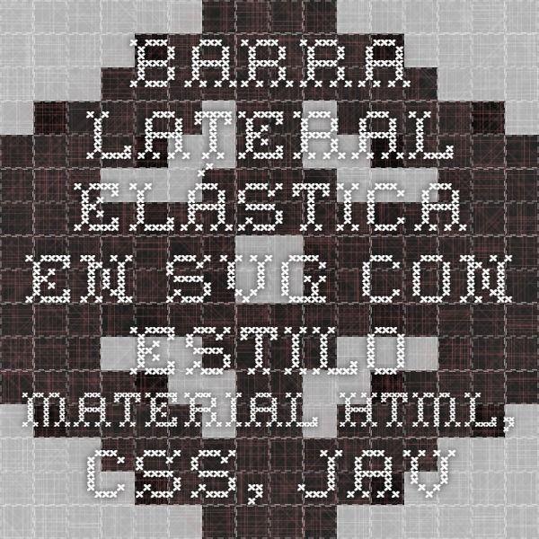 Barra Lateral Elástica En SVG Con Estilo Material html