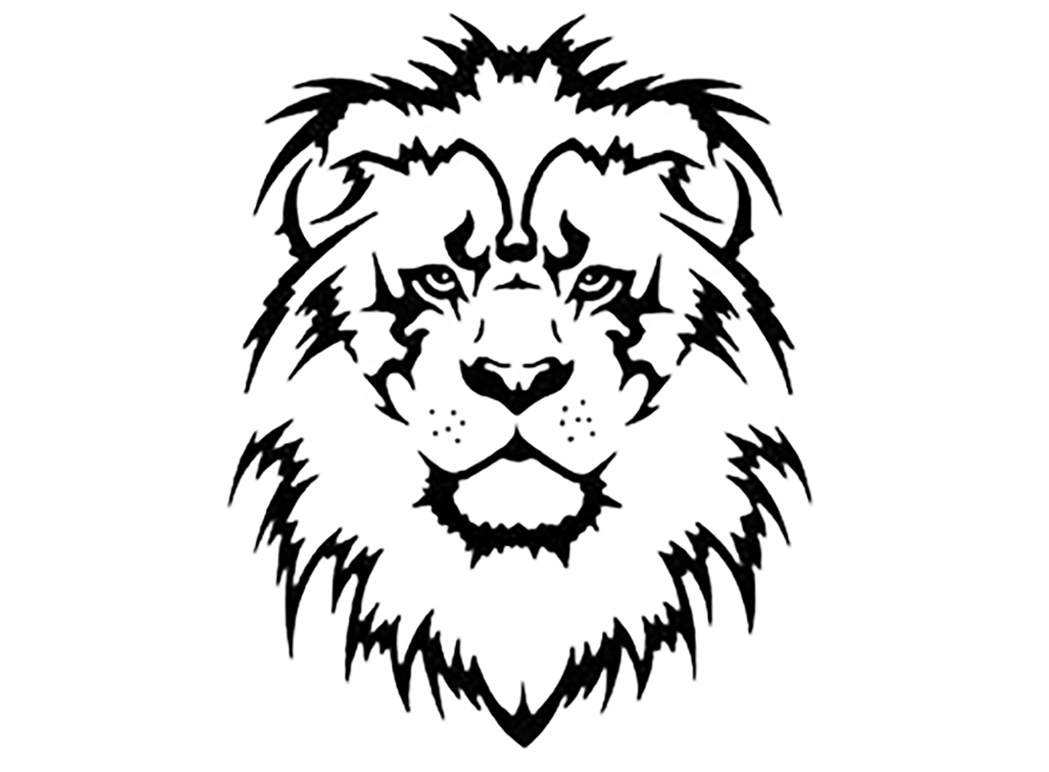 Car decals tribal graphic design zion series - Lion Head 10 Pcs 1 1 4 Black Fused Glass Decals