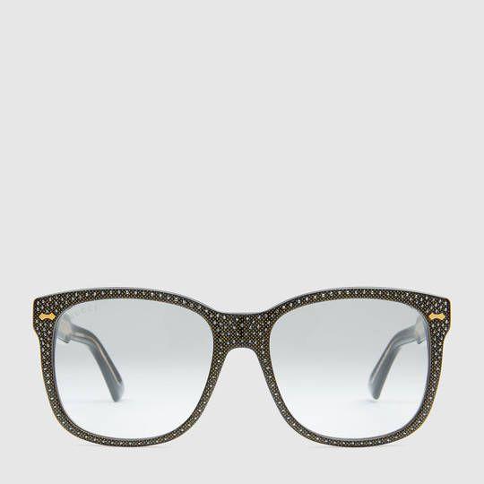 e1773df4c0ac8 Gucci Square-frame rhinestone glasses