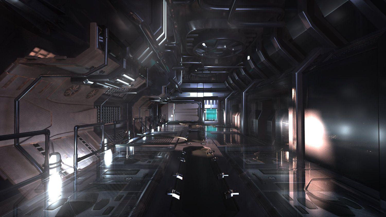 Artstation Scifi Hall Concept Akash Vasishtha Sci Fi