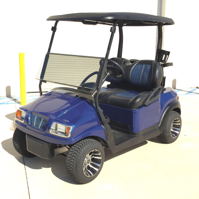 Club Car Phantom Golf Cart W Blue Alligator Seats Golf Carts Custom Golf Carts Golf