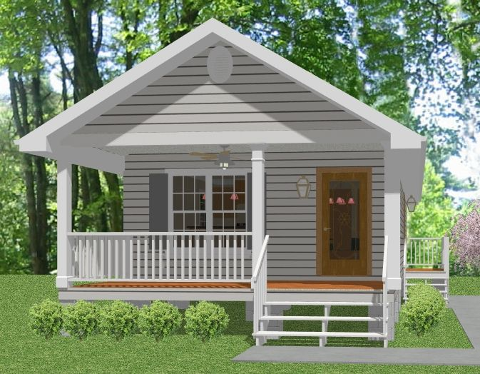 Complete house plans 648 s f mother in law cottage in for Prefab beach cottage