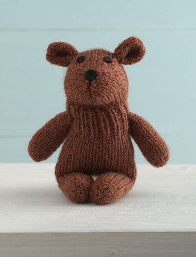 Tubby Teddy Sock Critter In Lion Brand Wool Ease 90570ad Free