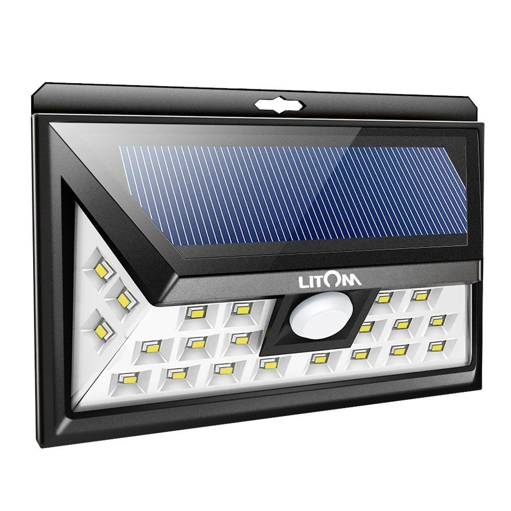 Luz Solar Exterior De Angulo Amplio Con Sensor De Movimiento Sensores De Movimiento Luces Exterior