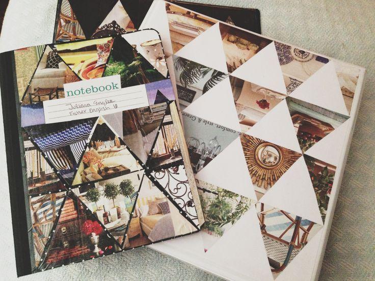 Tumblr binder back to school diy collegeblock basteln schulsachen - Fotoalbum dekorieren ...