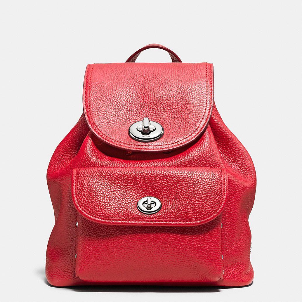 ce39b8980 Coach Turnlock Rucksack in Colorblock Denim | Back It Up | Denim backpack,  Denim handbags, Designer backpacks