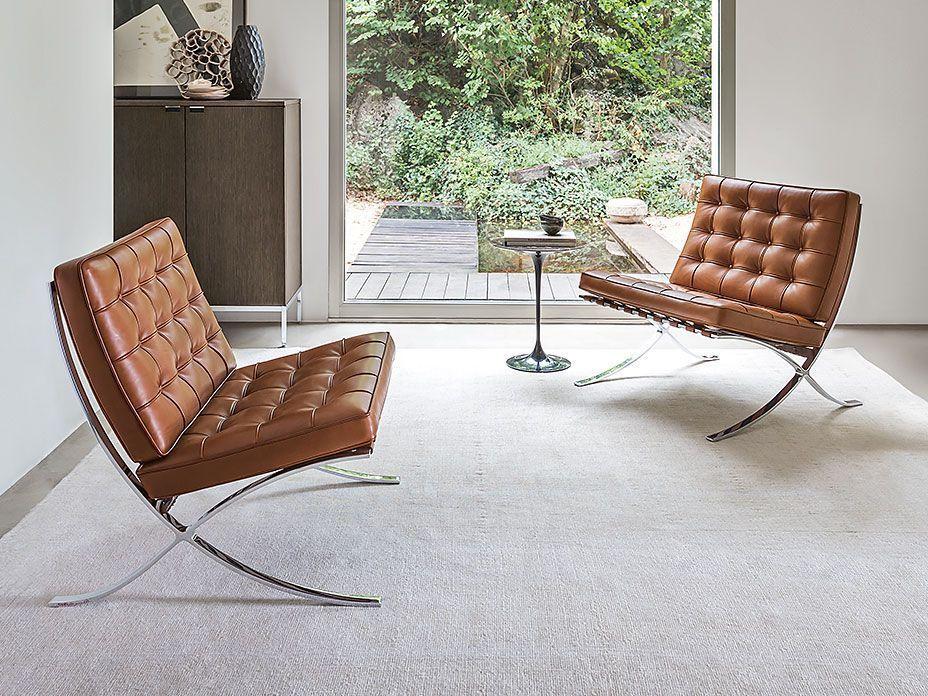 Eine Möbellegende Aus Leder Und Stahl Der Sessel Barcelona Von