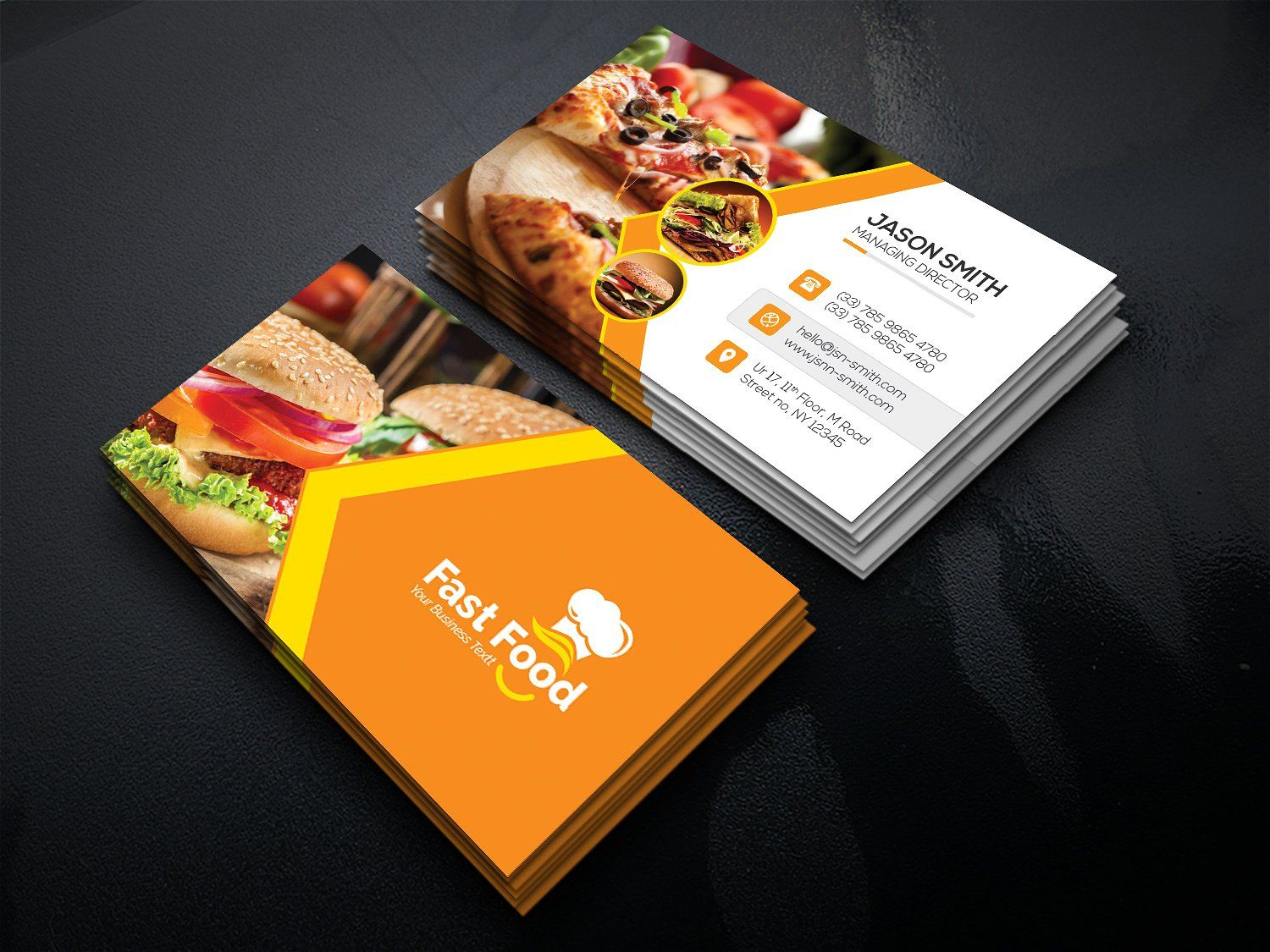 Fast Food Business Card Food Business Card Restaurant Business Cards Free Business Card Templates