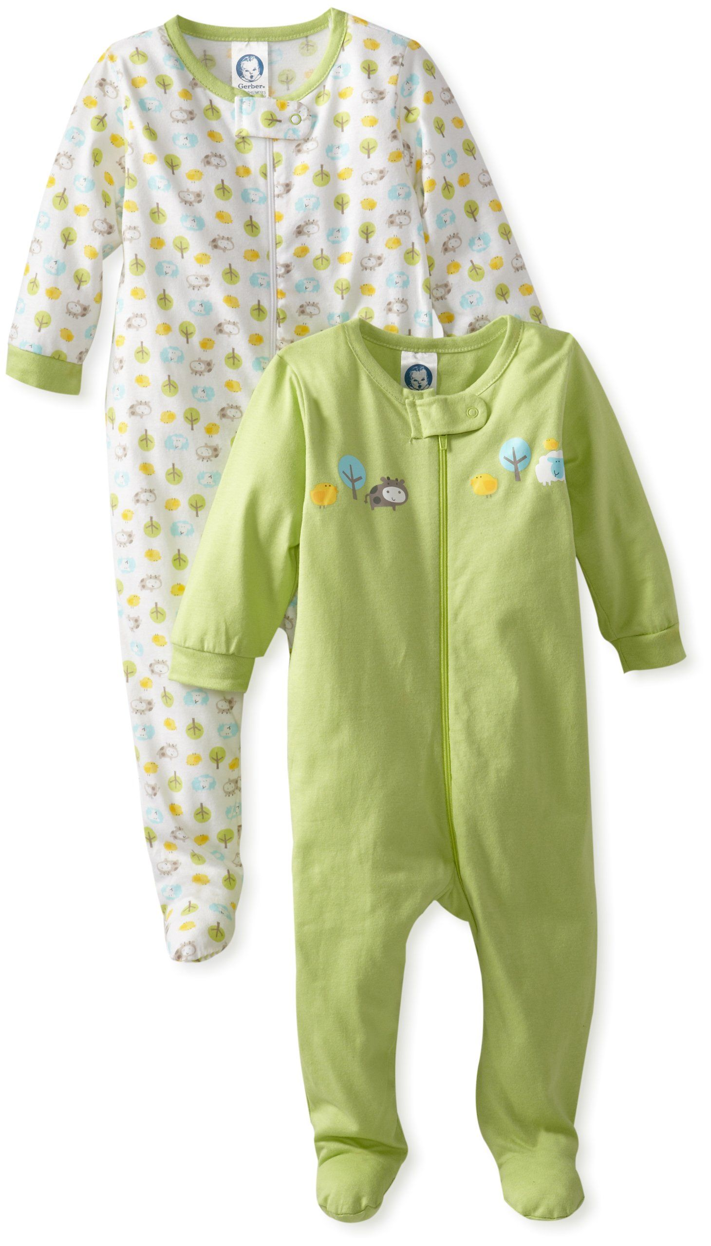 Amazon Com Gerber Unisex Baby Newborn Animals Sleep N