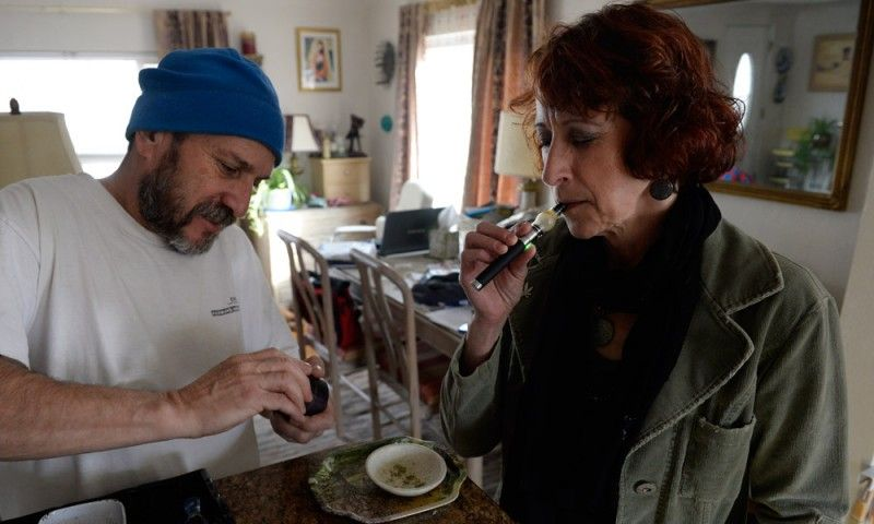 While volunteer Greg Duran was canvassing his neighborhood for presidential hopeful Bernie Sanders, a neighbor thanked him with an ounce of pot.