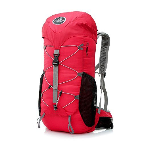 35L Hiking Backpack Pro Mountaineering Backpack FKB879 (Red) On Sale