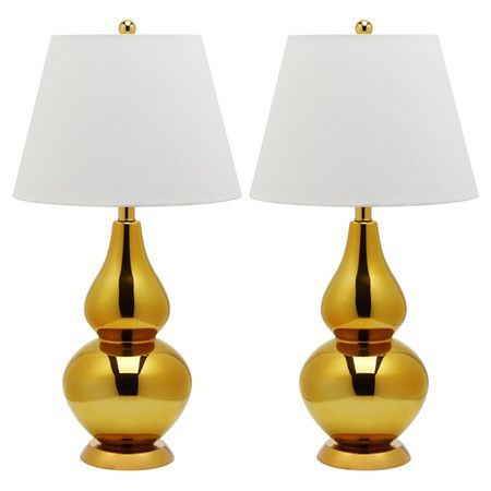 Alexa Table Lamp in Gold (Set of 2)