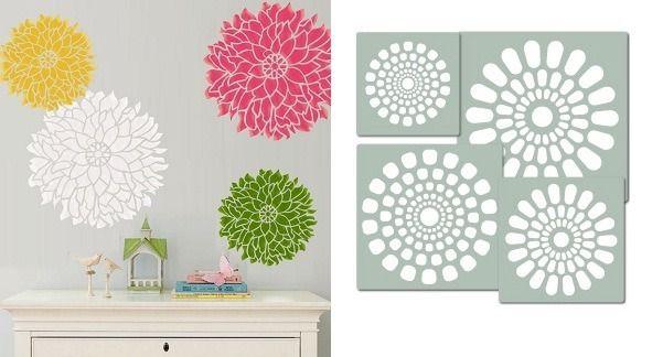 Plantillas para pintar la pared decoraci n casa pintar - Como hacer plantillas para pintar paredes ...