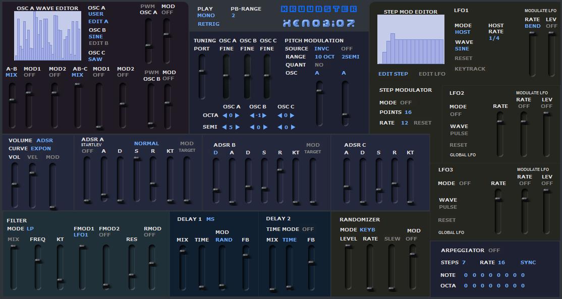 Kruudster is a free Hybrid Synthesizer VST instrument plug