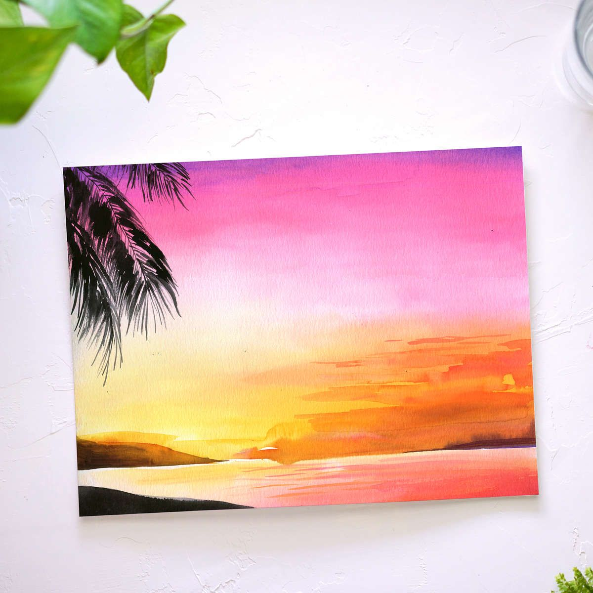Watercolor Subscription Box Watercolor Sunset Let S Make Art