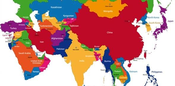 Map Of Monsoon Asia With Capitals.Central And Southwest Asia Map South Asia Map Countries And Capitals