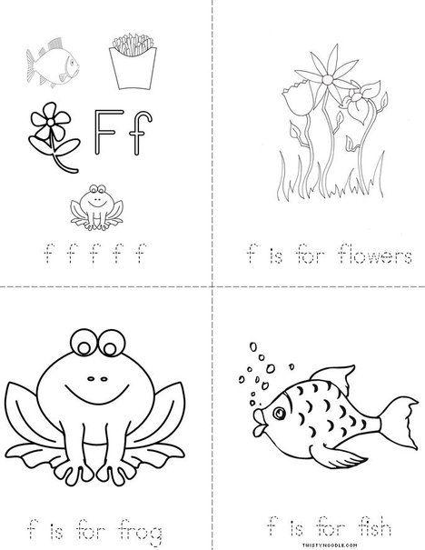 Letter F Mini Book Alphabet Crafts Preschool Mini Books Alphabet Preschool Free printable letter f worksheets for