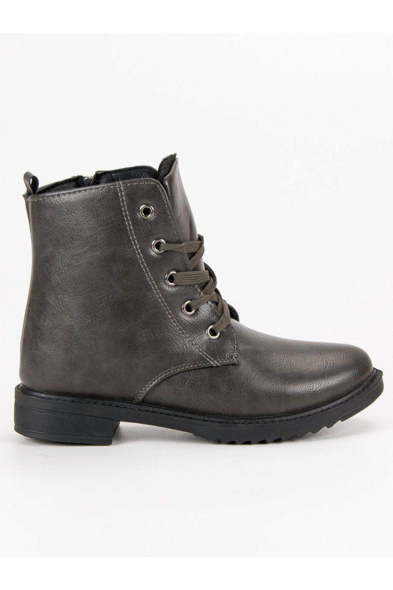5fa12f285ad62 Klasické sivé topánky CnB | Členkové topánky - NAJ.SK | Combat Boots ...