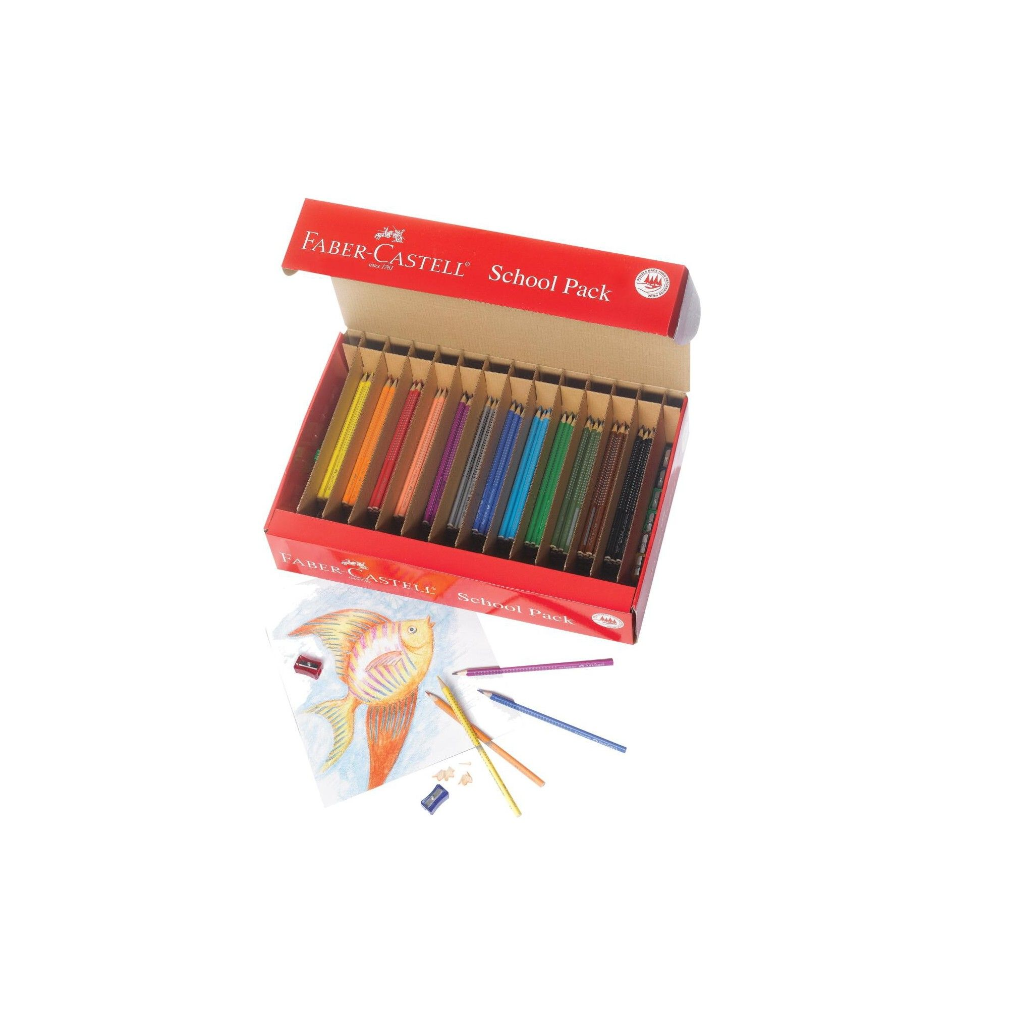 Faber Castell Grip Watercolor Ecopencil School Pk Assorted Color