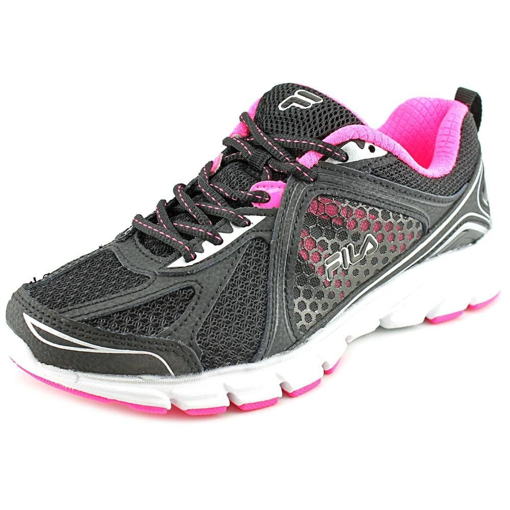 54aa5d0d3d940 Fila Women's Threshold 3 Running Shoe, Black/Knock Out Pink/White ...