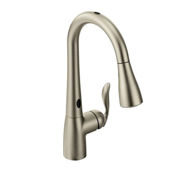 Arbor Spot Resist Stainless One Handle High Arc Motionsense Pulldown Kitchen Faucet 7594esrs Kitchen Faucet Pulldown Kitchen Faucets Best Kitchen Faucets