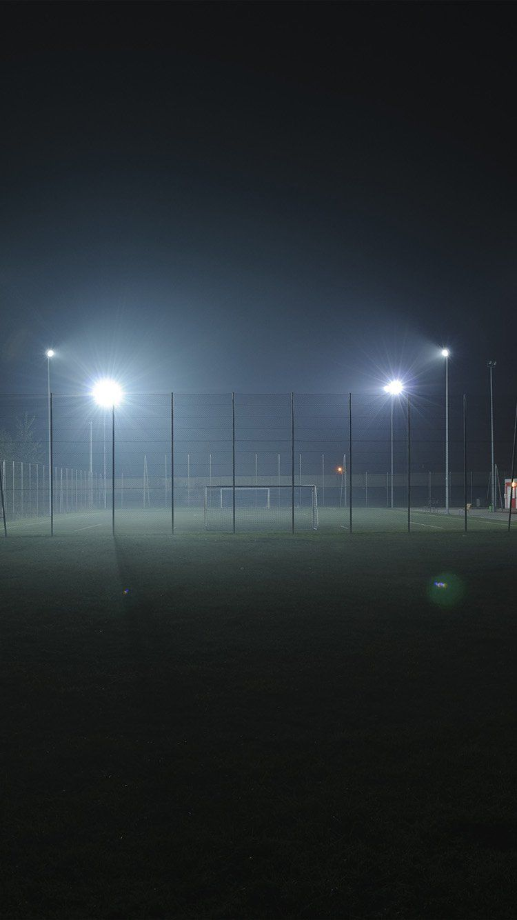 Nn97 Soccer Field City Night Light Dark Field Wallpaper Soccer Field Soccer Photography
