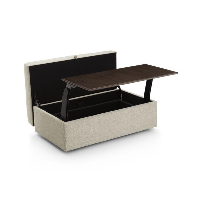 Lounge Ii Storage Ottoman With Tray Crate Barrel Multipurpose