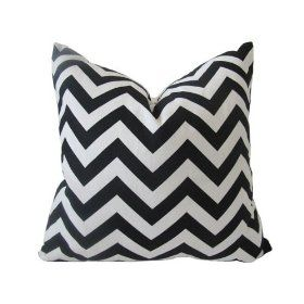 """Decorative Designer Pillow Cover-Black And White Chevron Zig Zag-18 x18 :     Price: $25.00    .        **Need A Fresh New Look....Add New Pillows** This Fun and very popular print is a zig zag Chevron print is in a bold black on a stark white cotton canvas fabric. This pillow cover measures 18""""x18"""". The back of this cover is a solid white cotton canvas fabric with an envelo...Check Price >> http://gethotprice.com/appin/?t=B008DKCWJQ"""