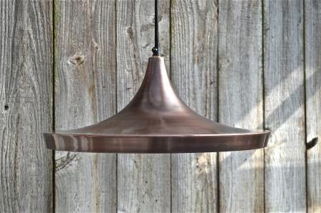 Large retro Danish design vintage copper hanging pendant light ceiling lamp LRD1