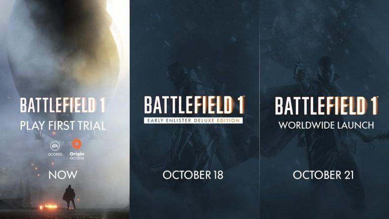 battlefield 1 release time