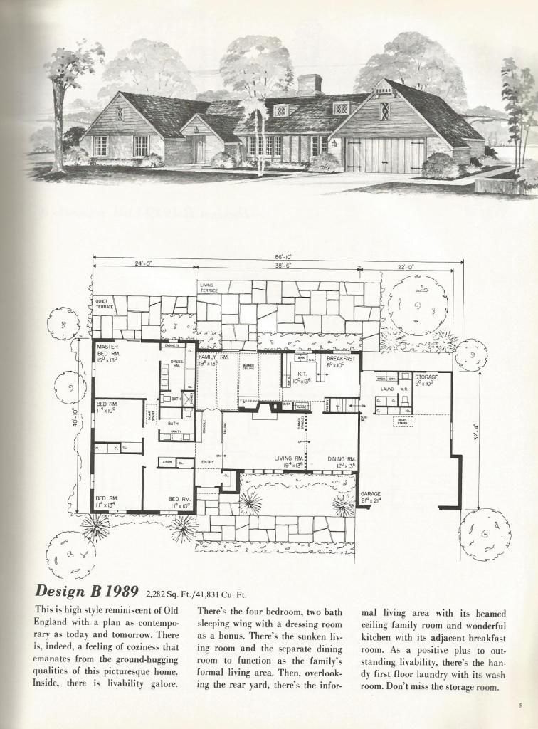 Vintage House Plans Traditional Homes Over 2000 Square