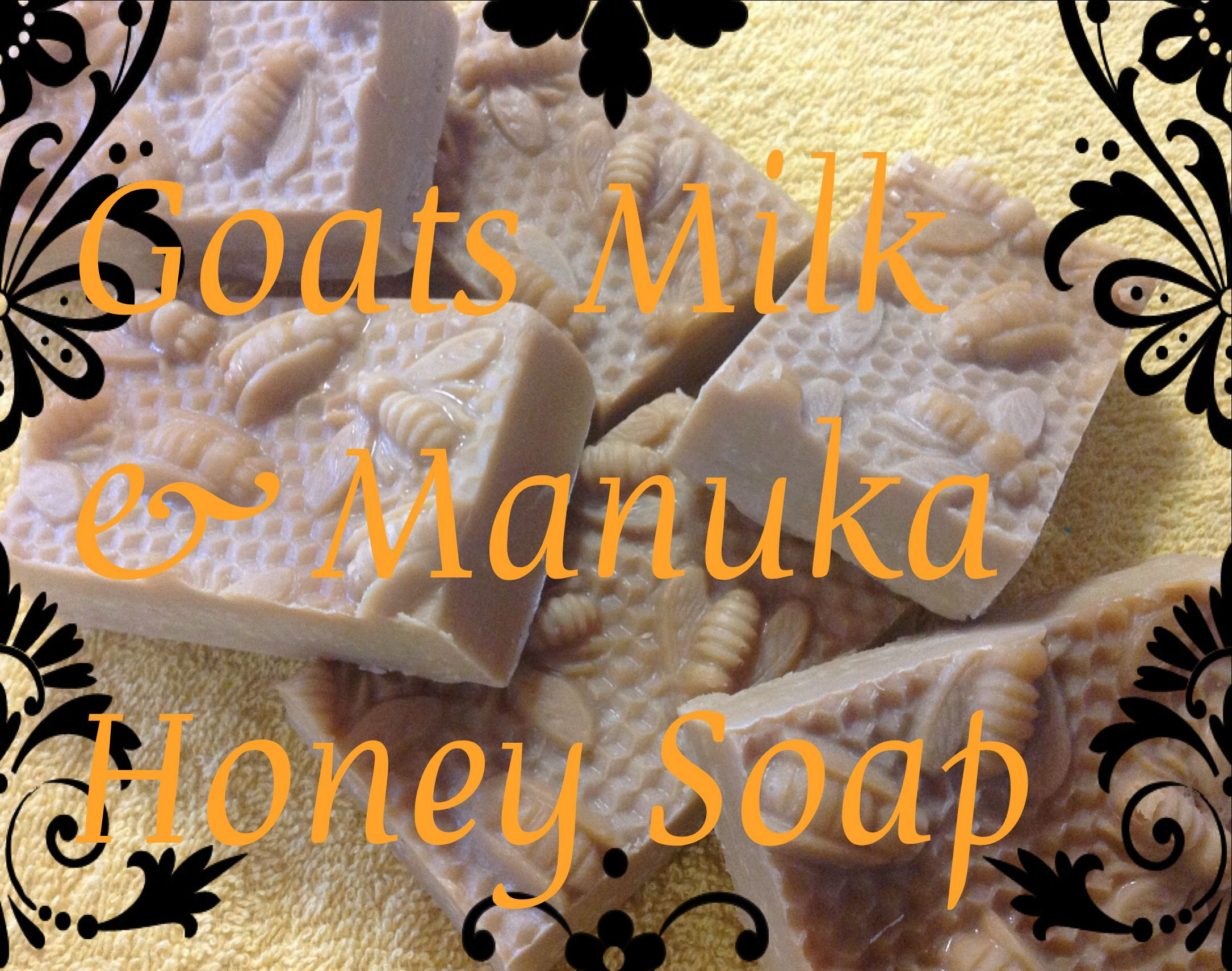 Goats Milk and Manuka Honey Soap fantastic for dry and sensitive skins. This soap is 100percent natural