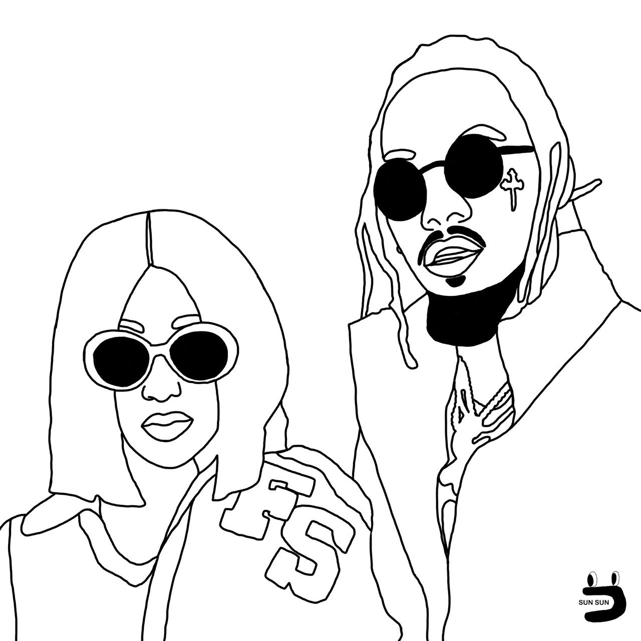 Image result for cardi b drawings