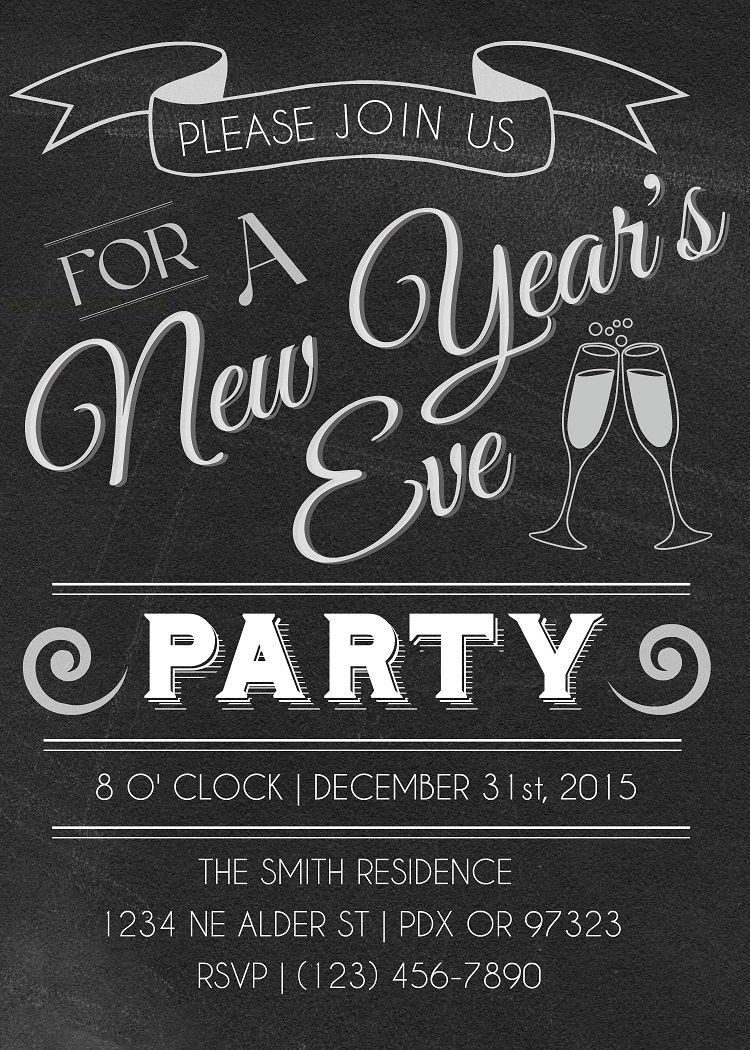 New Year Party Invitation Letter Party Invite Template New Years Eve Invitations Invitation Template