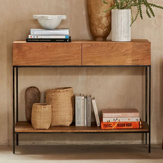 Industrial Storage Console In 2020 Rustic Storage Furniture Entryway Furniture