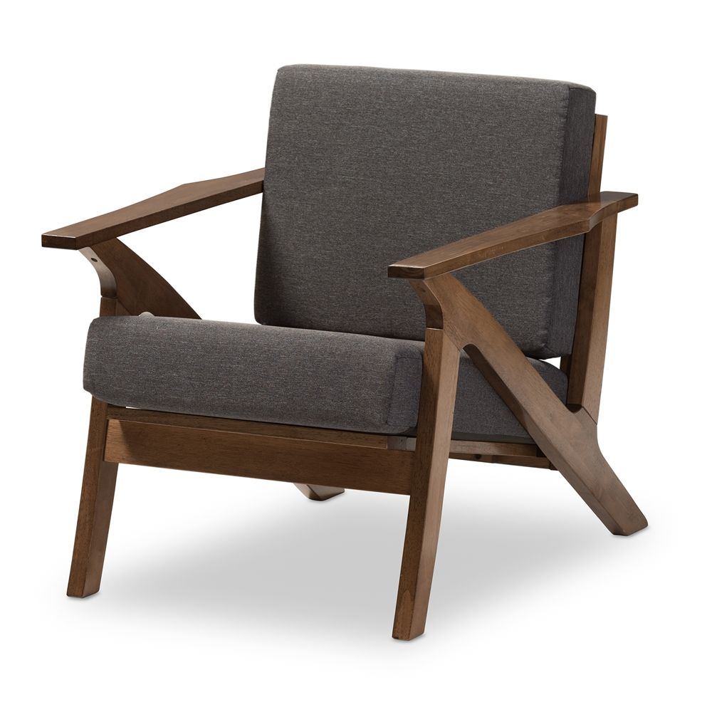 """Baxton Studio Cayla Midcentury Modern Grey Fabric And """"walnut Cool Wooden Living Room Chairs Design Ideas"""