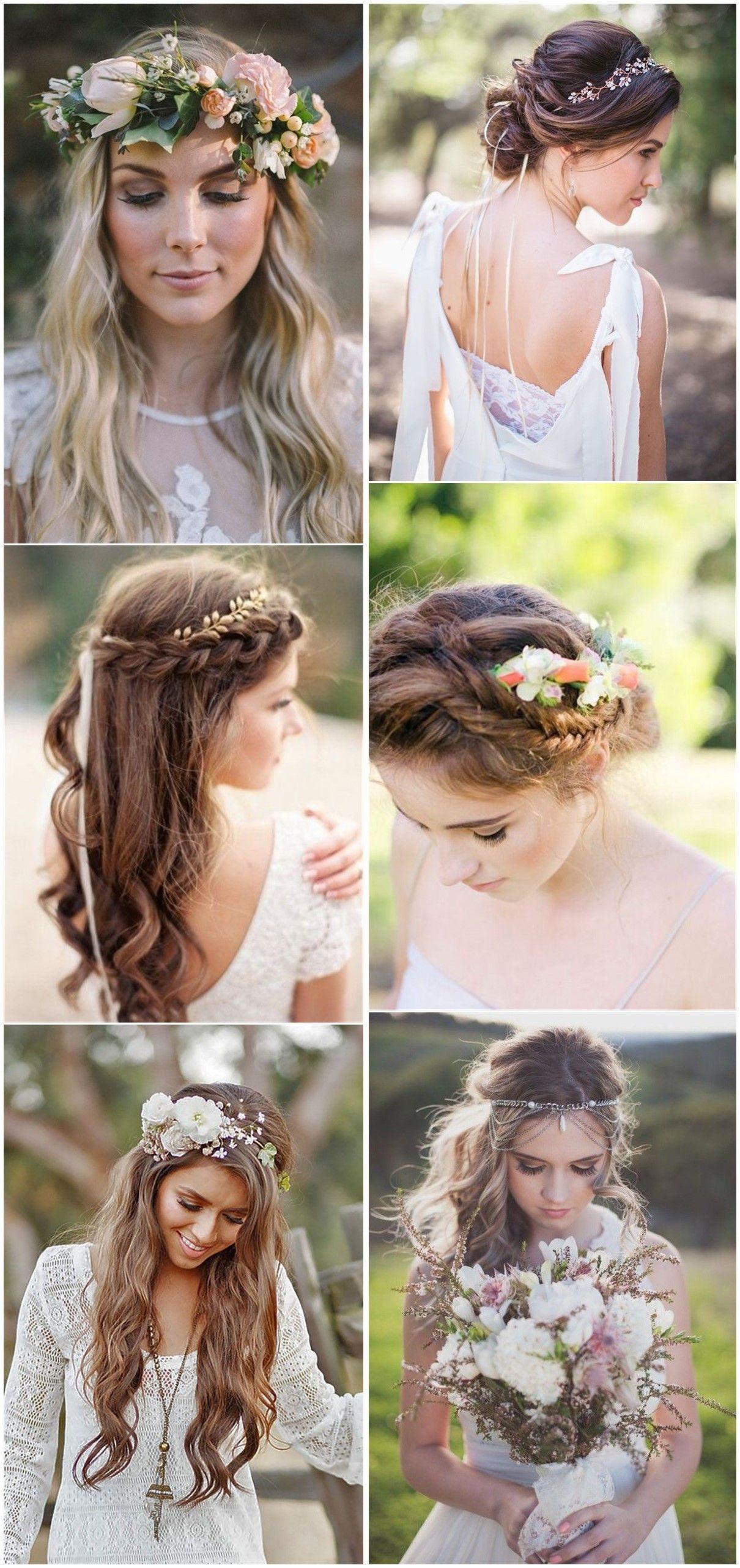 Bohemian Wedding Hairstyles For Short Hair Strapless   21 ...