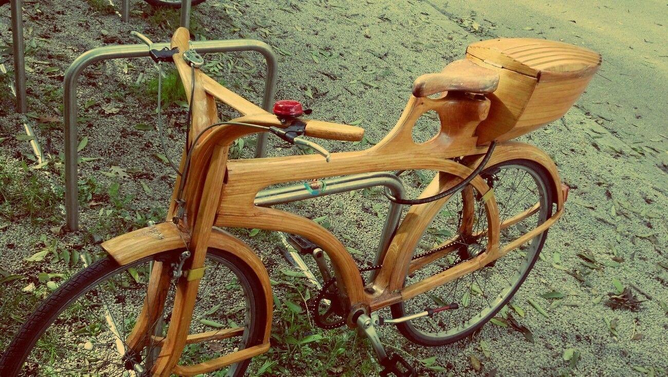 Just Saw An Incredible Wooden Bike Oc Wooden Bike Wooden Bicycle Wood Bike