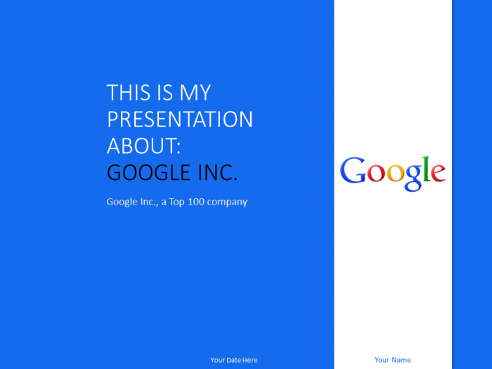 Google inc powerpoint template blue presentationgo pinterest free google inc powerpoint template blue toneelgroepblik Gallery
