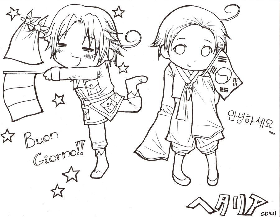 hetalia coloring pages # 0
